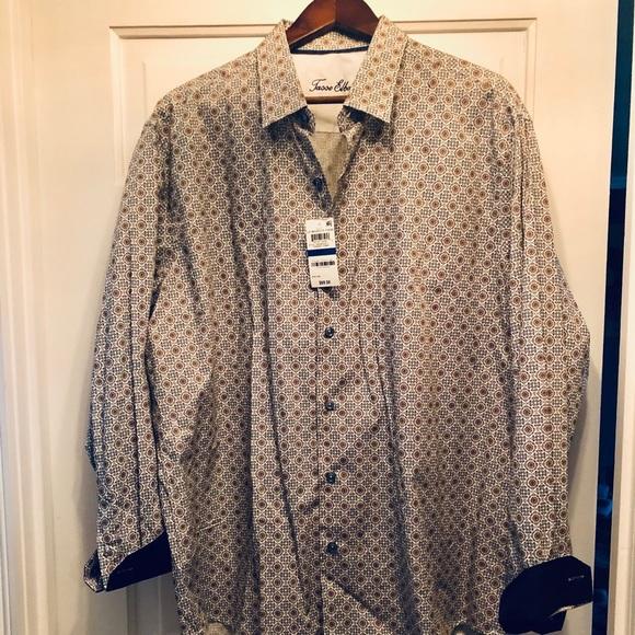 Men's Tasso Elba dress shirt XL NWT